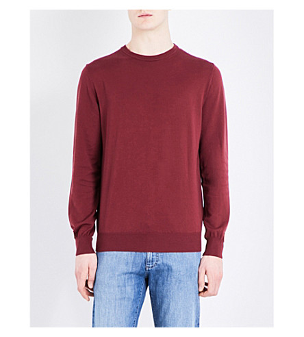 CANALI Crewneck knitted jumper (Borduex
