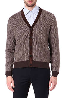 CANALI Suede and cashmere cardigan