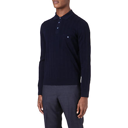 CANALI Checked polo shirt (Navy