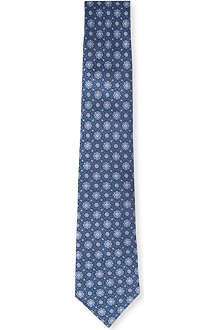 CANALI Traditional floral-tile tie