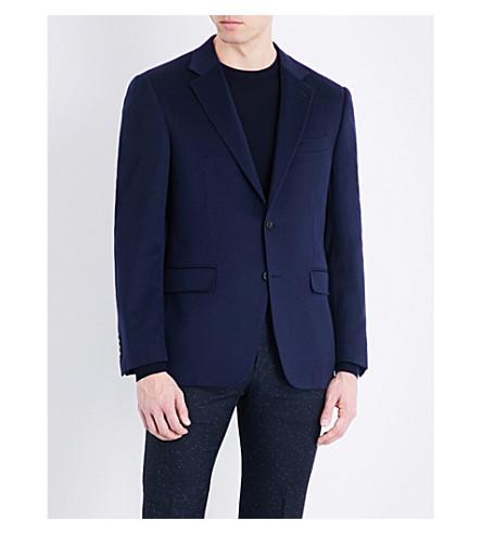 CANALI Single-breasted cashmere jacket (Blue
