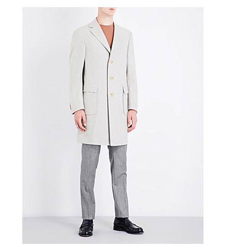 CANALI Kei regular-fit wool coat (Oatmeal