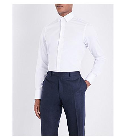 CANALI Slim-fit stretch-cotton shirt (White