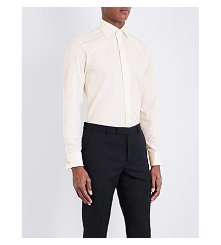 CANALI Modern-fit cotton-twill shirt (Ivory