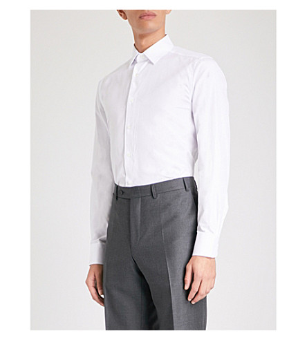 Free Shipping Fashion Style 2018 For Sale modern fit oxford shirt - White Canali sWRjzgier