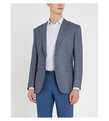 CANALI Modern-fit linen shirt (Blue