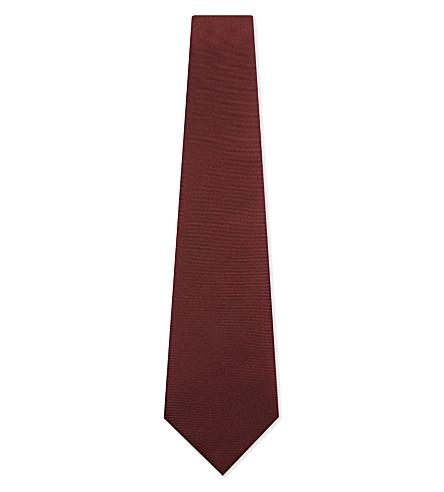 CANALI Silk twill tie (Burgundy