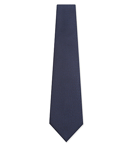 CANALI Silk textured tie (Blue