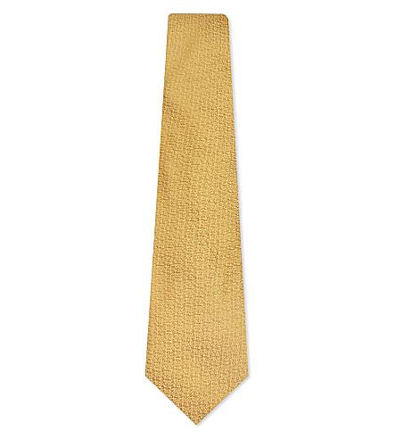 CANALI Textured silk tie (Gold