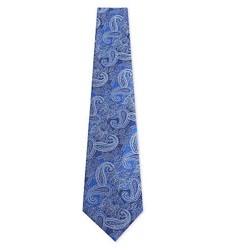 CANALI Paisley silk tie (Blue