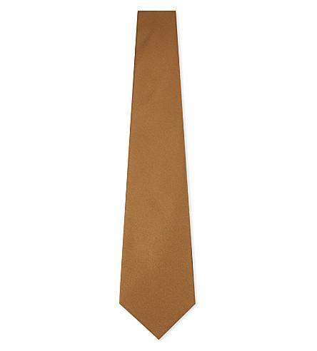 CANALI 缎丝领带 (金