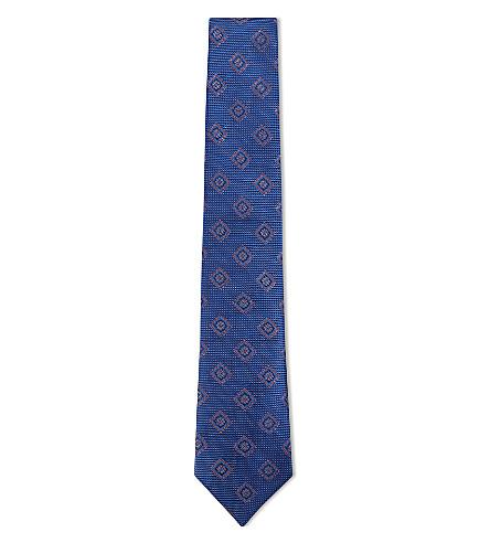 CANALI Flower silk tie (Blue