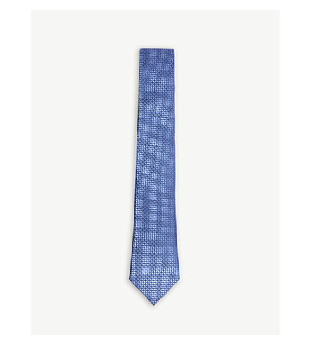 CANALI Diamond dot silk tie
