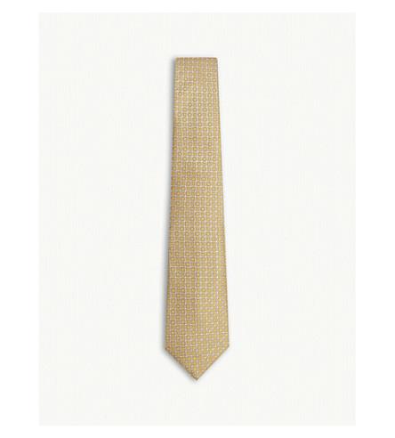 CANALI Circle pattern silk tie