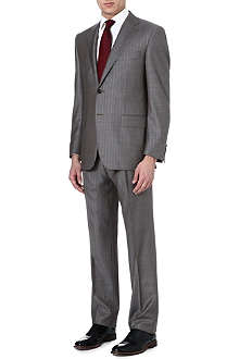 CANALI Striped single-breasted wool suit