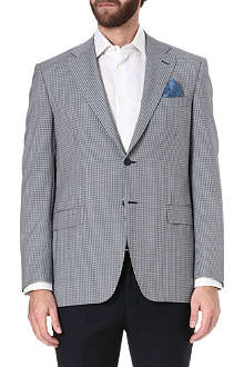 CANALI Checked single-breasted suit jacket