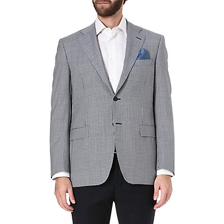 CANALI Checked single-breasted suit jacket (Navy