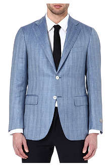 CANALI Herringbone single-breasted blazer