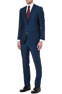 CANALI Notch-lapel wool and mohair-blend suit