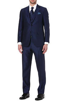 CANALI Single-breasted notch-lapel crepe suit