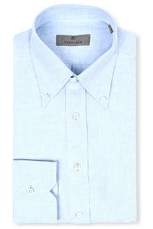 CANALI Regular-fit linen shirt
