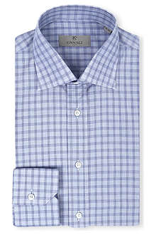 CANALI Blue check shirt