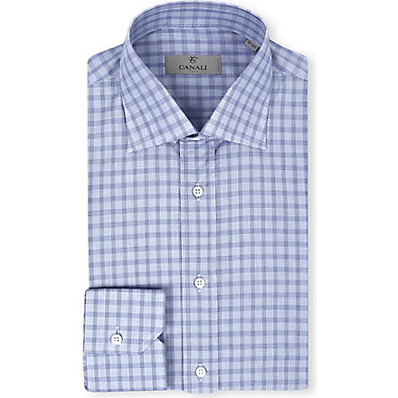 CANALI Blue check shirt (Blue