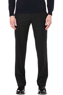 CANALI Flat-fronted wool trousers