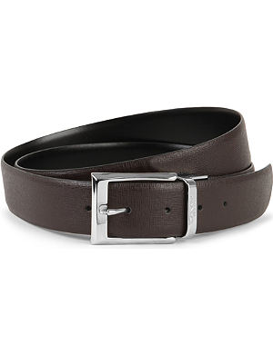 CANALI Grained-leather belt