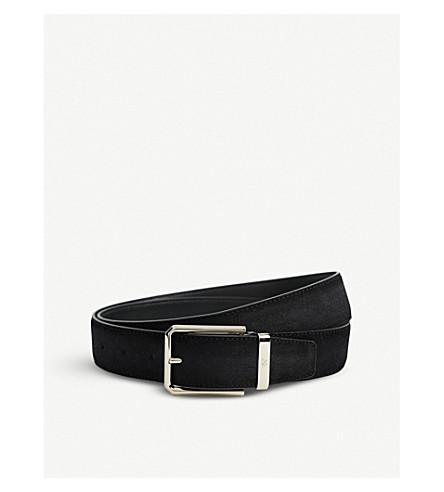 CANALI Suede belt (Black