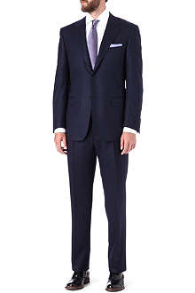 CANALI Single-breasted notch-lapel wool suit