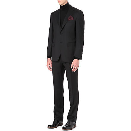 CANALI Single-breasted wool suit (Black