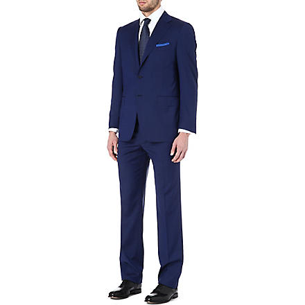 CANALI Single-breasted notch-lapel suit (Cobalt