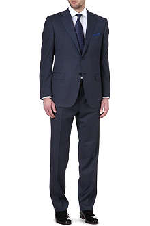 CANALI Micro-check single-breasted suit