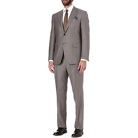 CANALI Prince of Wales check suit (Taupe