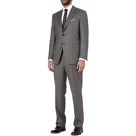 CANALI Houndstooth wool suit (Brown