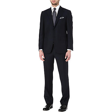 CANALI Dogtooth two-piece wool suit (Navy