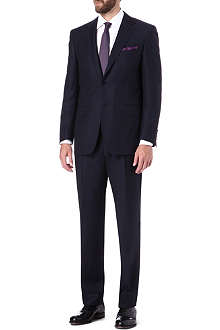 CANALI Herringbone single-breasted wool suit