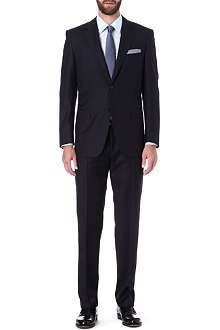 CANALI Wide-set pinstripe single-breasted wool suit