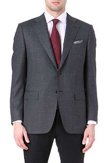 CANALI Single-breasted basketweave blazer