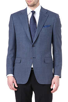 CANALI Textured single-breasted suit jacket