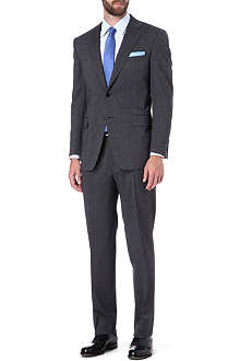 CANALI Pindot single-breasted wool-blend suit