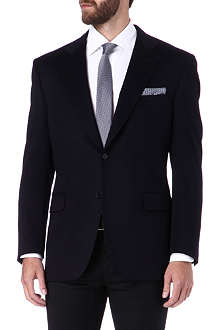 CANALI Single-breasted wool-blend jacket