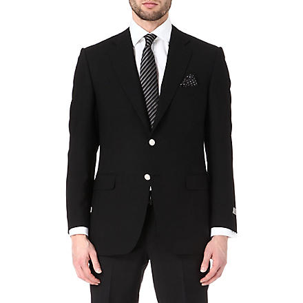 CANALI Single-breasted wool blazer (Black