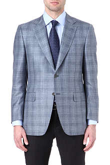 CANALI Single-breasted checked blazer