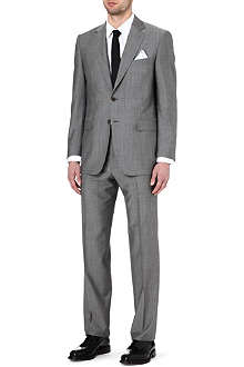 CANALI Wool-mohair single-breasted suit