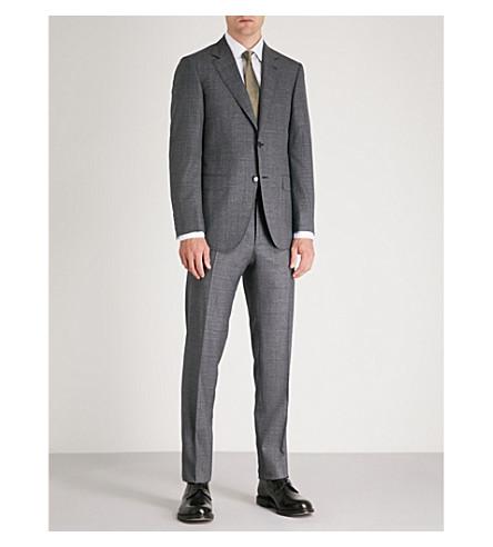 CANALI 超级130的方格羊毛西服 (灰色