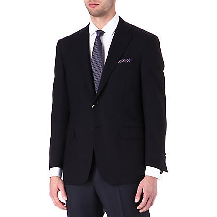 CANALI Wool single-breasted blazer (Navy