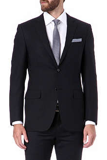 CANALI Single-breasted wool blazer