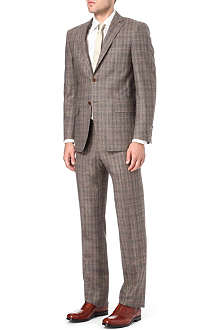 CANALI Single-breasted Prince of Wales check suit